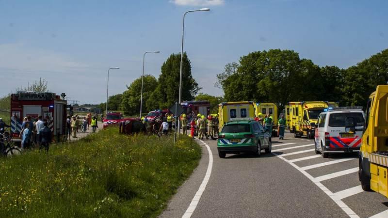 Zwaar ongeval met zes gewonden