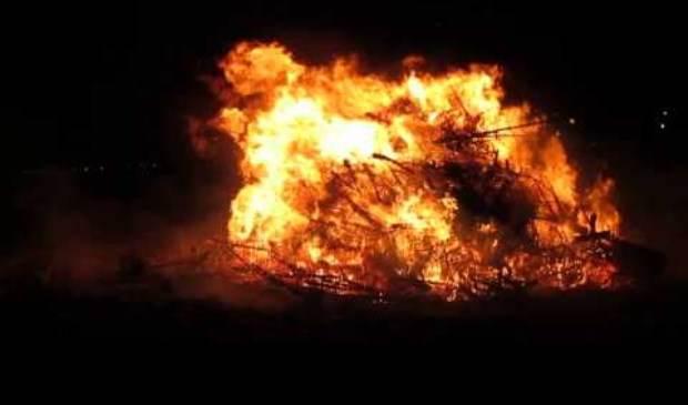 Kerstboomverbranding naar donderdag 10 januari