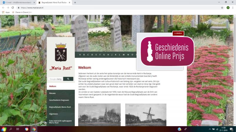 Oude begraafplaats Maria Rust genomineerd