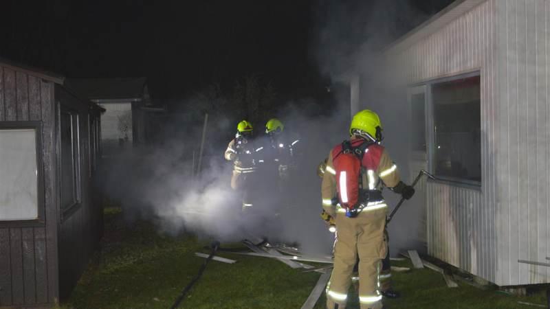 Vakantiehuisje afgebrand op Kruininger Gors