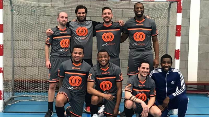 Zaalvoetbalteam LINQ Futsal kampioen 2018-2019