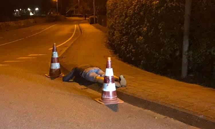Dronkaard kan even veilig slapen op straat