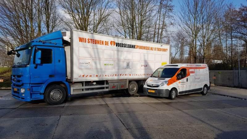 Voedselbank zoekt bijrijder vrachtwagen