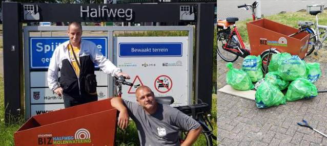 BIZ Halfweg-Molenwatering pakt zwerfafval aan