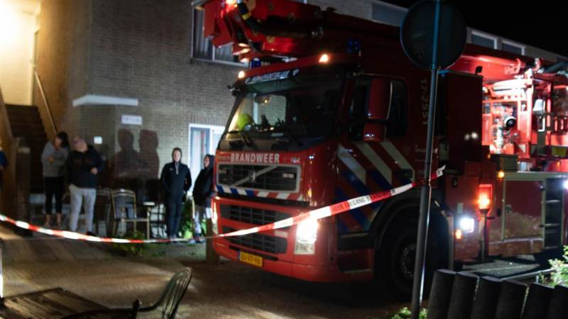 Wasdroger in brand in Hellevoetsluis