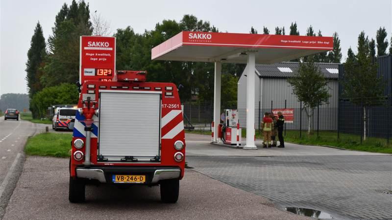 Brandstoflekkage bij onbemand tankstation