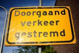 Wegwerkzaamheden Rijksstraatweg Nieuwenhoorn