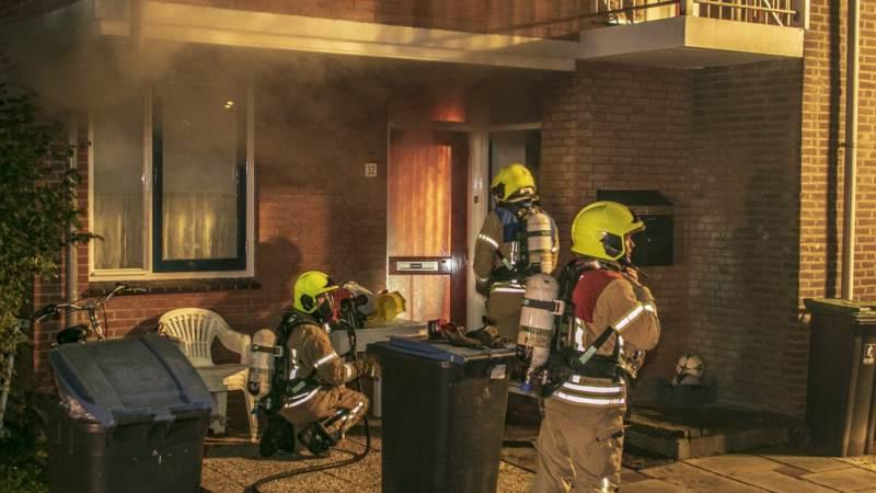 Fikse brand in meterkast in woning aan de Sering