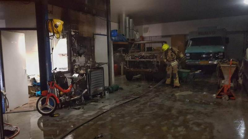 Brand in werkplaats snel onder controle