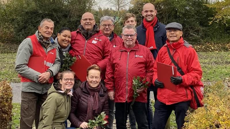PvdA Nissewaard op bezoek in de Maaswijk