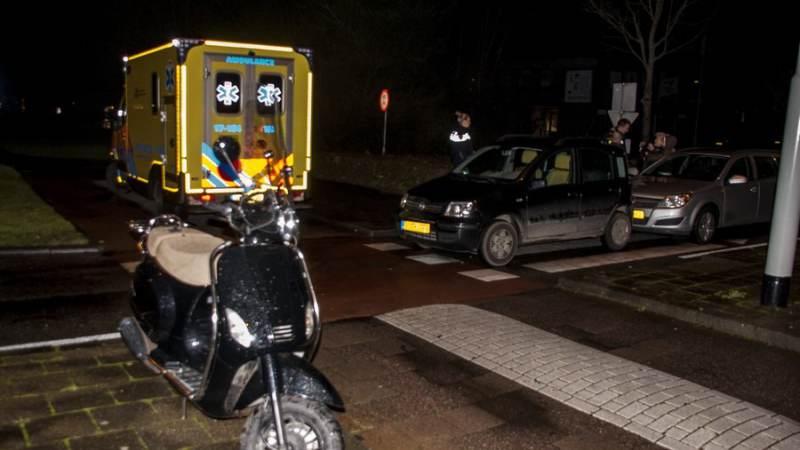 Aanrijding Sportlaan tussen auto en scooter