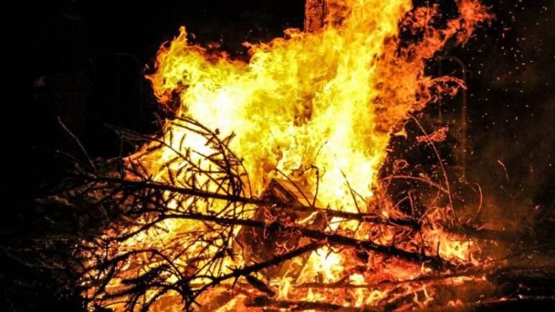 Kerstboomverbranding 1e Slag in Rockanje