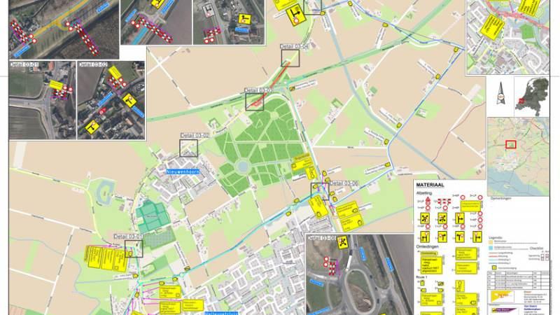 Inrichting 30 km zone Rijksstraatweg Nieuwenhoorn