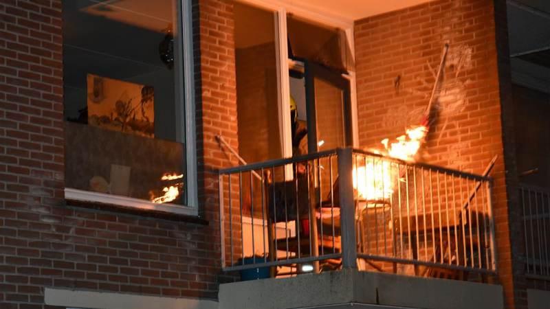 Frituurpan vliegt in brand in Hellevoetsluis