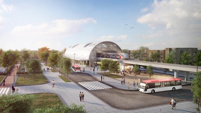 Acht miljoen euro voor metro- busstation