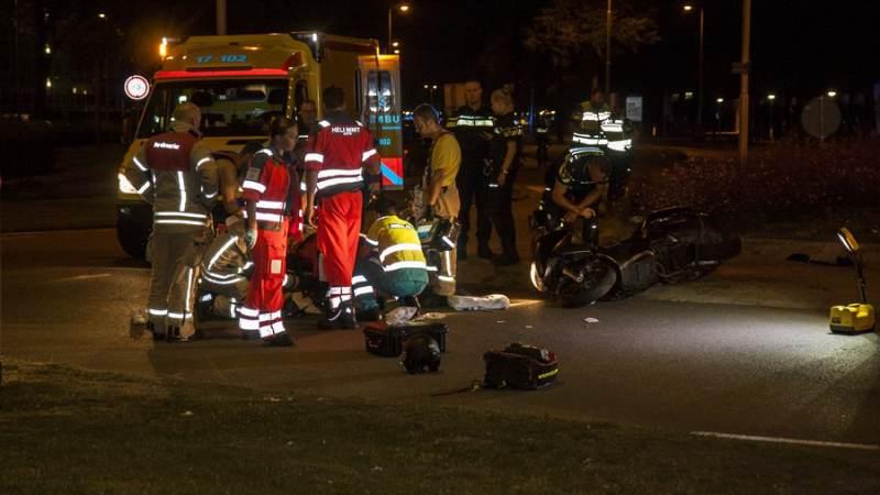 Motorrijder ernstig gewond bij eenzijdig ongeval