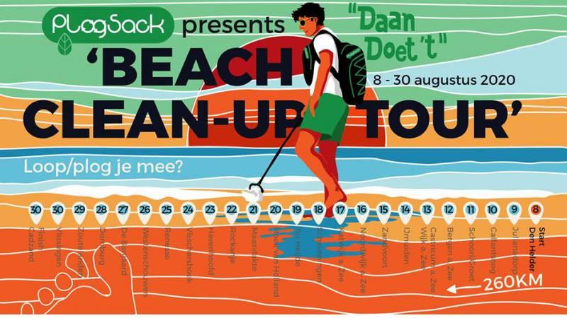 Beach Clean-Up Tour PlogSack komt langs