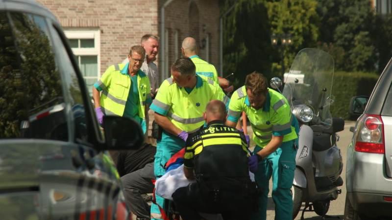 Scooter hard onderuit in Oudenhoorn