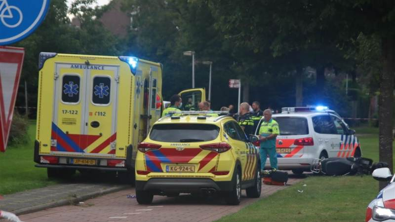 Scooterrijder zwaargewond bij ernstig ongeval