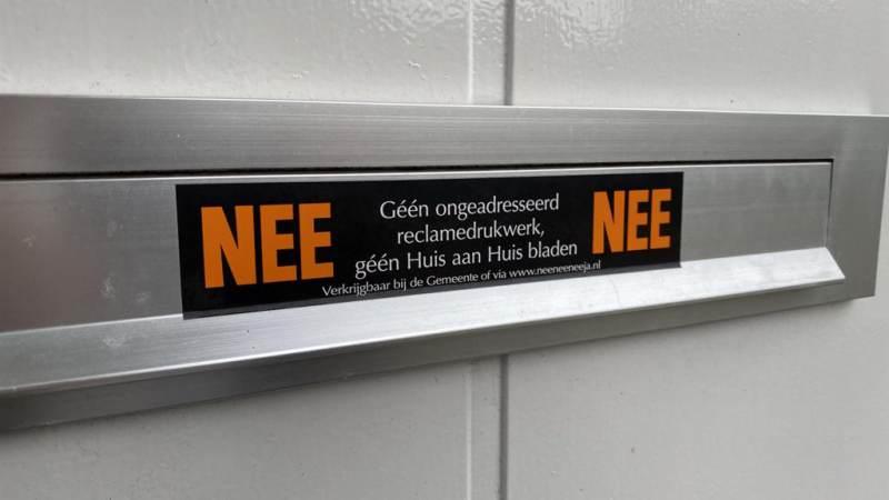 Huis-aan-huis reclame ontmoedigen