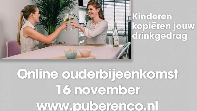 Online bijeenkomst voor ouders met thema alcohol