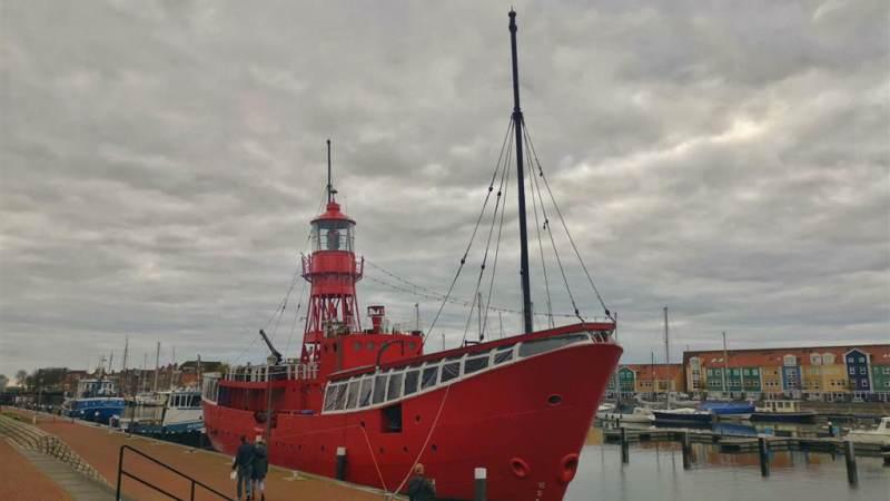 Lichtschip Vessel 11 in Droogdok Jan Blanken.