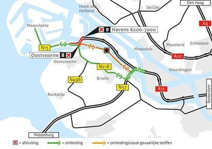 A15 Suurhoffbrug tijdelijk afgesloten