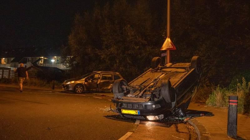 Inzittenden vluchten na ongeval in Spijkenisse