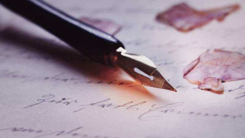 Schrijver in de bieb