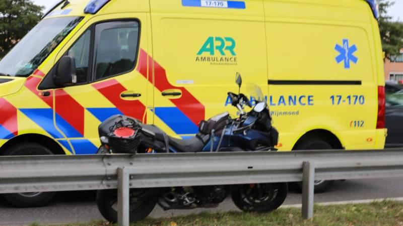 Eenzijdig ongeval met motor op de Nieuweweg