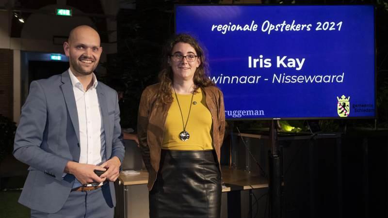 Iris Kay ontvangt Jilles Bruggeman Opsteker